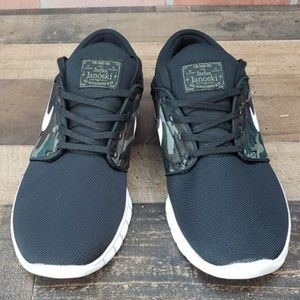 d7c9d9bc8dec6 Nike Shoes - Nike SB Janoski Air Max Black   Camo Skate Shoes